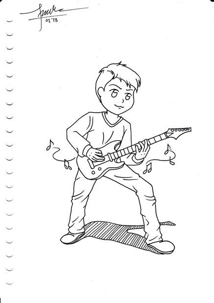 Guitar hero :3  #chibi #sketch