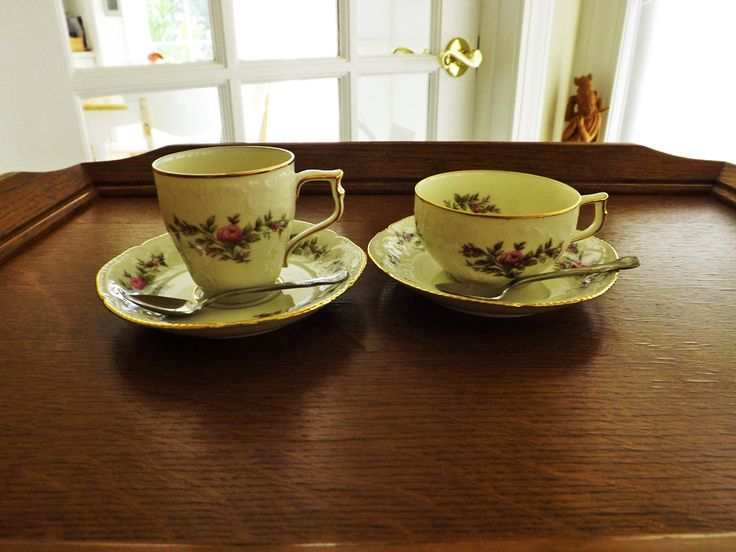 Difference Between Coffee Tea Cups Rosenthal Sanssouci Rose Ivory Gold