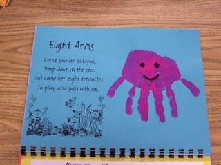 87 best images about handprints on pinterest crafts for Octopus craft for preschool