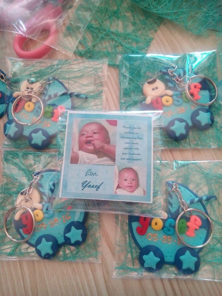 polymer clay baptism giveaways for boys  #polymerclay #baptism #christening #giveaway #souvenirs #keychains