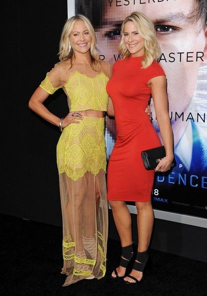Brittany Daniel and Cynthia Daniel arrive at the 'Transcendence' - Los Angeles Premiere at Regency Village Theatre on April 10, 2014 in Westwood, California