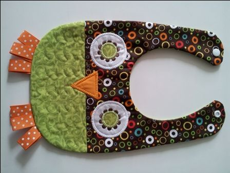 The PolkaDot Frog Boutique  Hoot Owl Bib