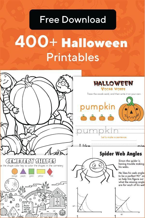 Halloween Worksheets Free Printables Education Com Halloween Worksheets Halloween Worksheets Free Holiday Lessons Free halloween worksheets for kids