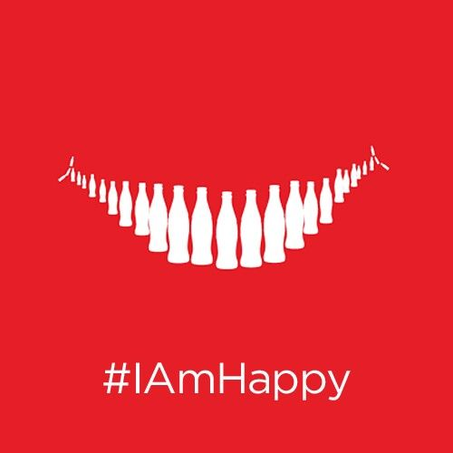 #IAmHappy Share a Smile #OpenHappiness with @cocacolaindia