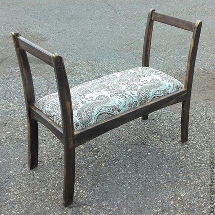Мебель ручной работы. Ярмарка Мастеров - ручная работа. Купить Банкетка. Handmade. Банкетка, скамейка, деревянный, состаренная древесина, краска
