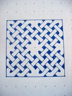 Tut on how to draw a celtic knot...cool!