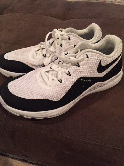 promo code b08e1 13b26 Nike White Flywire Low Cut Basketball Sneakers Children Size 9 Pre-Owened   fashion  clothing  shoes  accessories  kidsclothingshoesaccs  boysshoes  (ebay ...