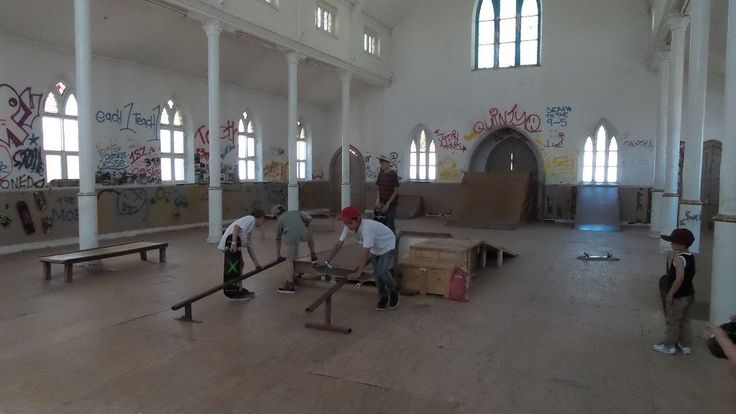 20141003 102930Church Skate Park: Road Kill Industries Kimberley South Africa Friends of mine in Kimberley South Africa bought a old church in Kimberley South Africa and have converted it into a Skate Park and sanctuary for the youth . Keeping kids off the streets and away from drugs