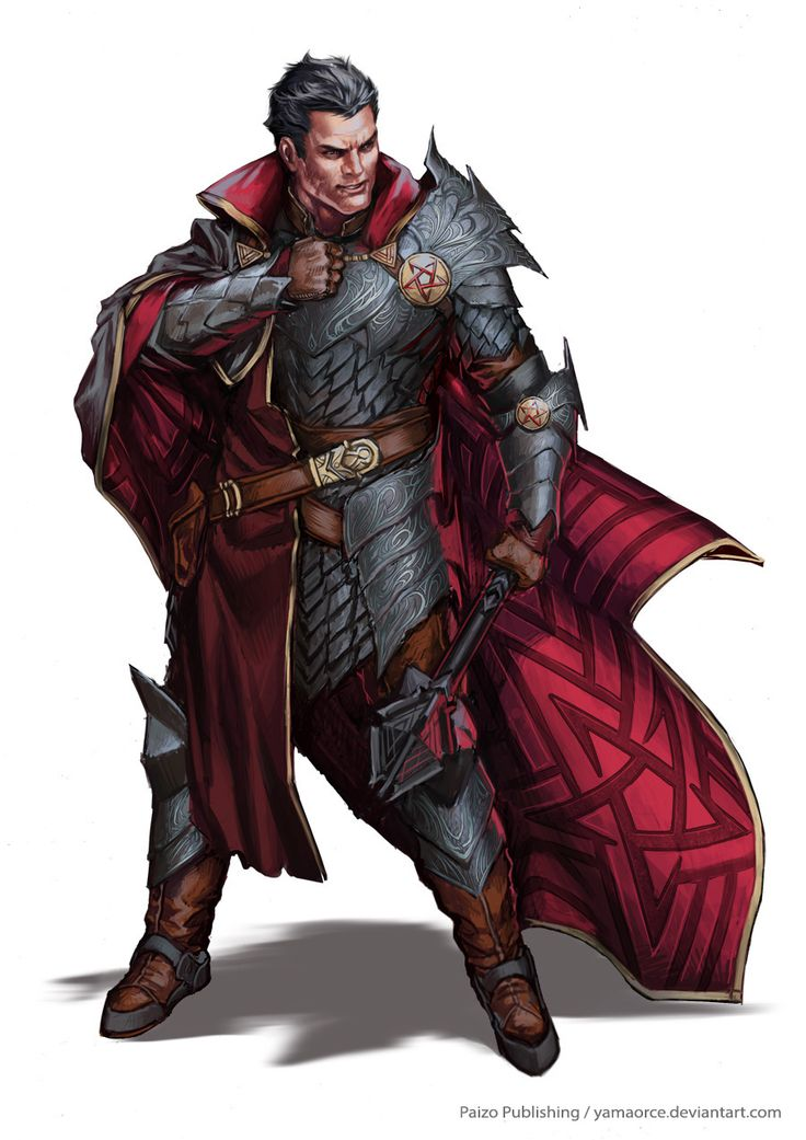 Lector RotrovioPeravali by YamaOrce fighter priest paladin cape mace platemail armor clothes clothing fashion player character npc | Create your own roleplaying game material w/ RPG Bard: www.rpgbard.com | Writing inspiration for Dungeons and Dragons DND D&D Pathfinder PFRPG Warhammer 40k Star Wars Shadowrun Call of Cthulhu Lord of the Rings LoTR + d20 fantasy science fiction scifi horror design | Not Trusty Sword art: click artwork for source