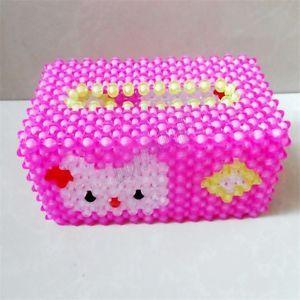 3D beadwork Napkin Paper handkerchief Tissue Box Case Container box Creative