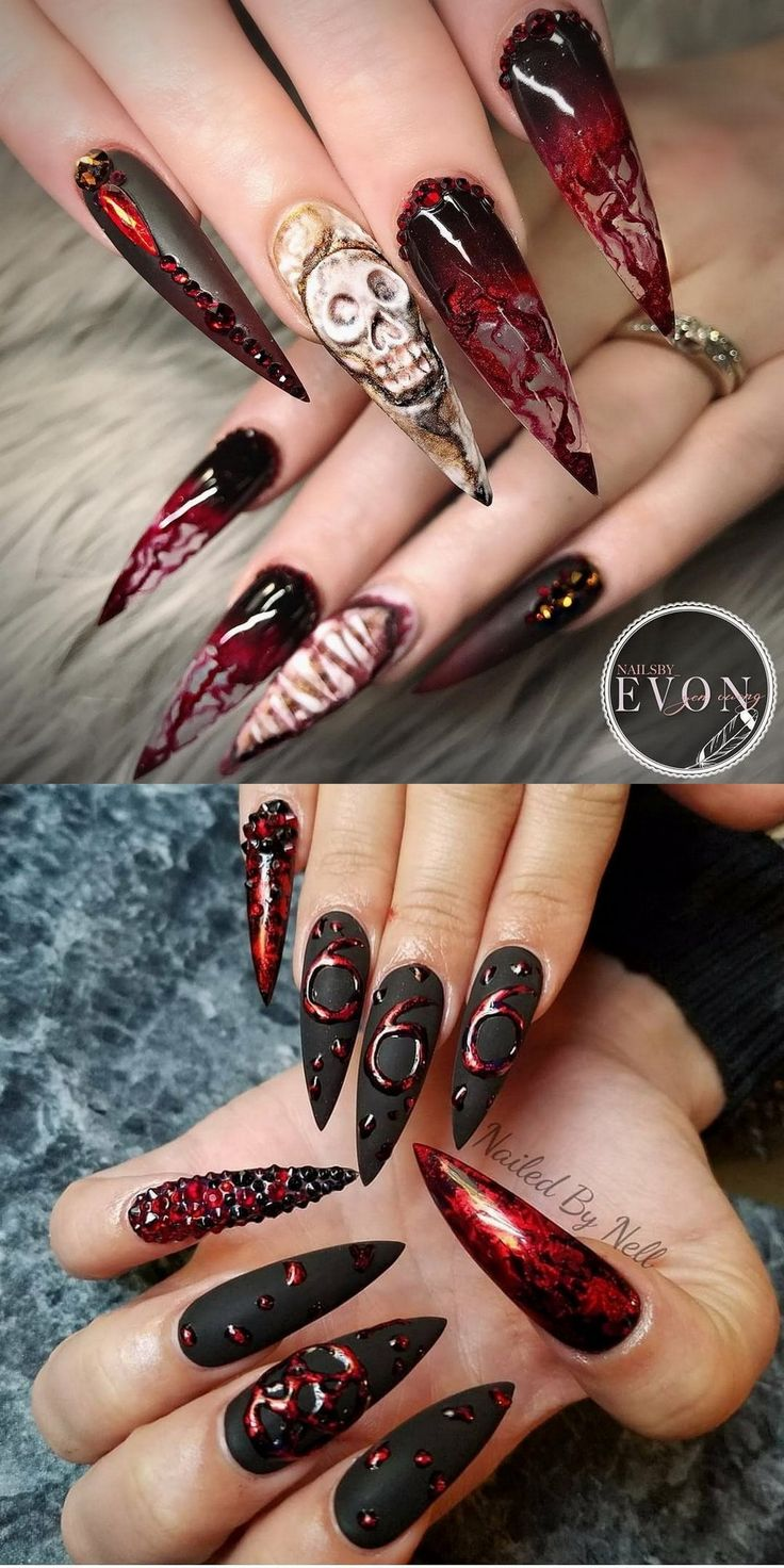 24 Witchy Halloween Nail Art Design Ideas @rogueandwolf ...