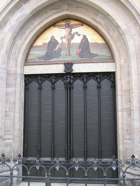 Door where Luther posted 95 Theses, Wittenberg, Germany