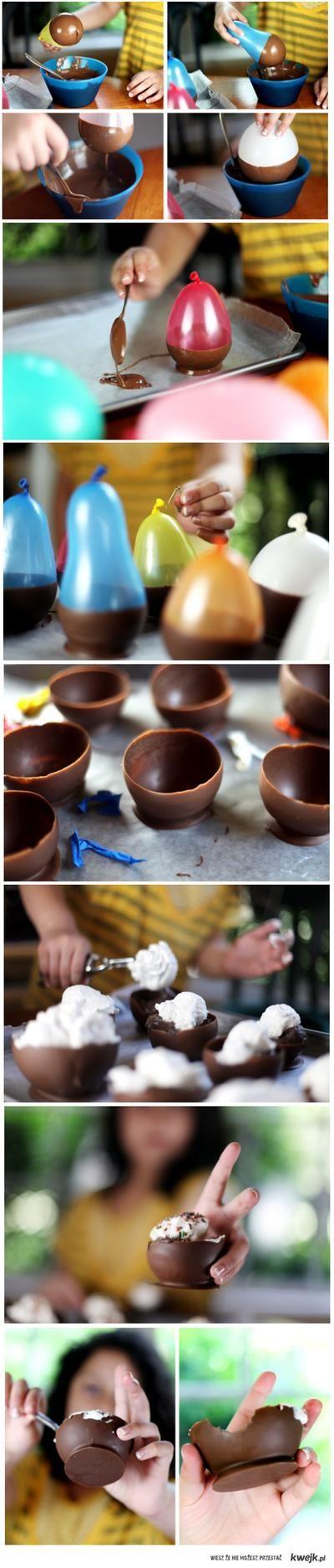 Casquinha de chocolate