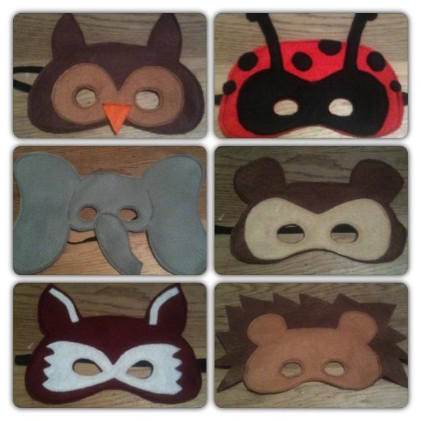 Felt animal masks