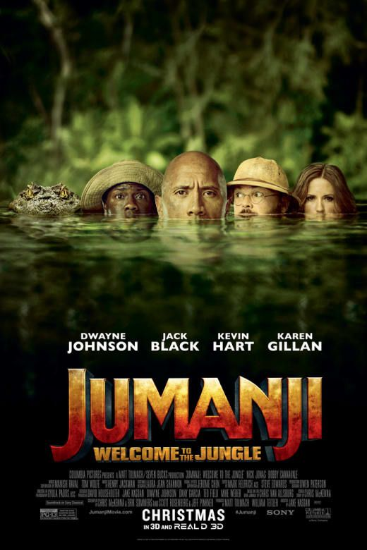 Jumanji gets a 2017 update with this clever adventure-comedy starring Dwayne Johson, Kevin Hart, Jack Black and Karen Gillan.