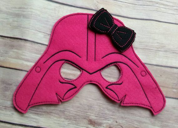 Check out this item in my Etsy shop https://www.etsy.com/listing/248270151/pink-darth-vader-with-bow-mask-party