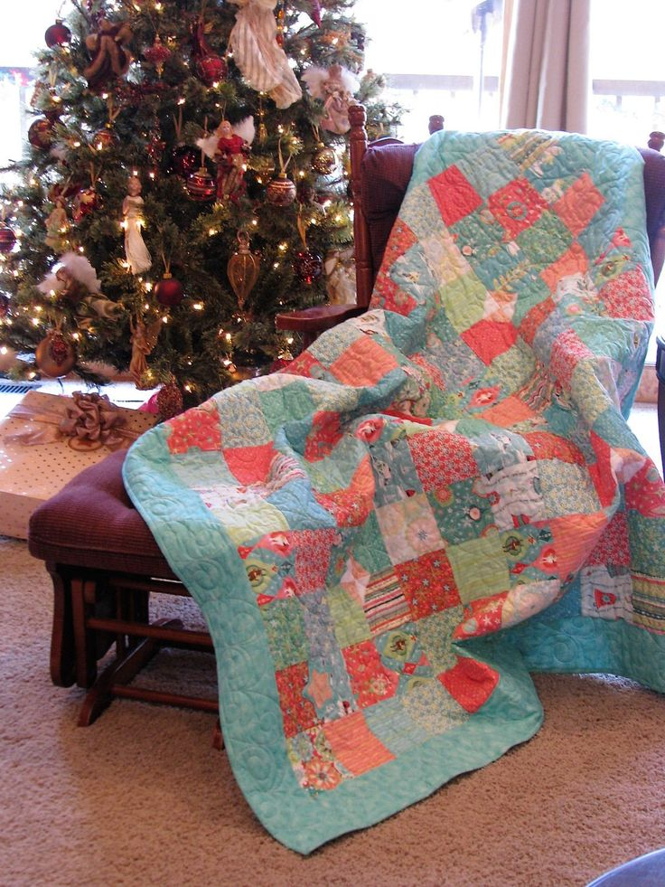 Excited to share the latest addition to my #etsy shop: Quilt - Wall Hanging - Quilted Sofa Throw - Sherri Berry Christmas quilt - Peach Green and Blue Christmas Quilt http://etsy.me/2AXrd13 #housewares #bedroom #bedding #red #christmas #green #patchwork #adult #no