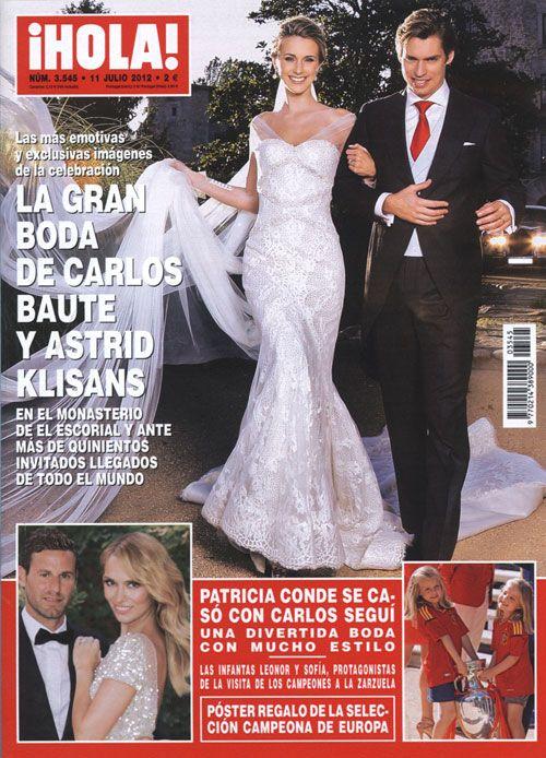 Portada de la revista ¡HOLA! de esta semana, que ofrece a sus lectores las imágenes más emotivas y exclusivas de la gran boda de Carlos Baute y Astrid Klisans
