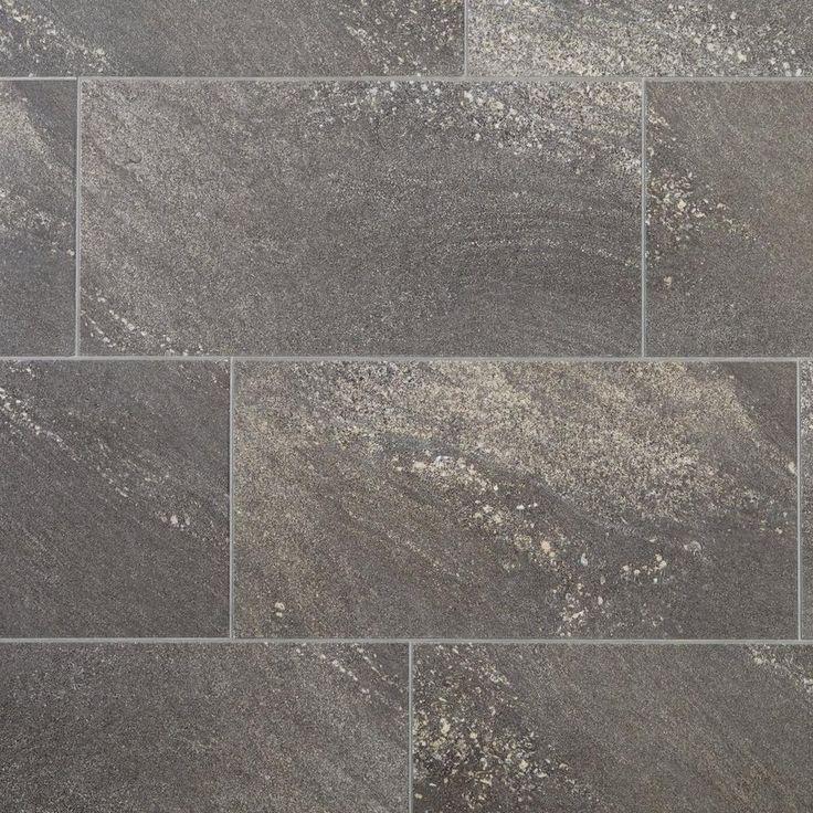 Nucore Dark Gray Tile Plank With Cork Back 6 5mm 100376888 Floor And Decor Dark Grey Tile