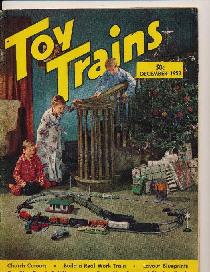 Vintage TOY TRAINS Magazine - December, 1953 -