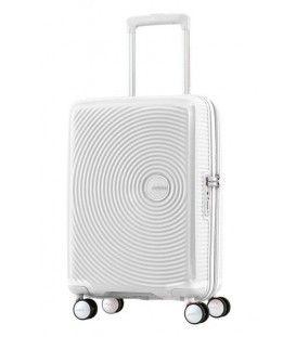 American Tourister - Curio - Valise rigide 21,5''  de format cabine 4 roues en polypropylène blanc