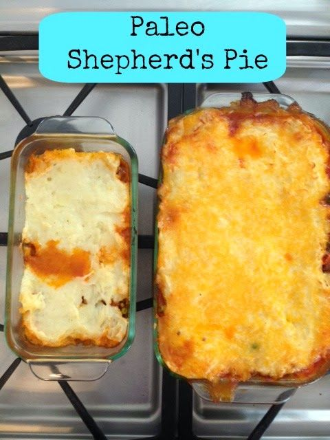 This Paleo Shepherd's Pie is delicious! All ingredients are clean ...