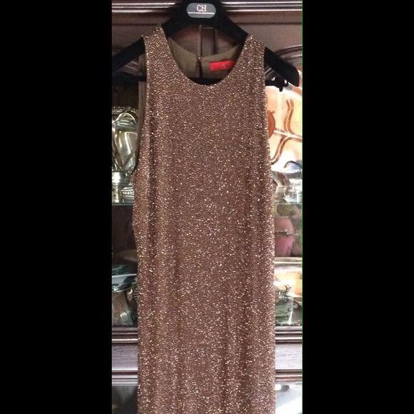 Never worn Carolina Herrera Dress Beautiful, long, gold dress. Never worn. Carolina Herrera Dresses