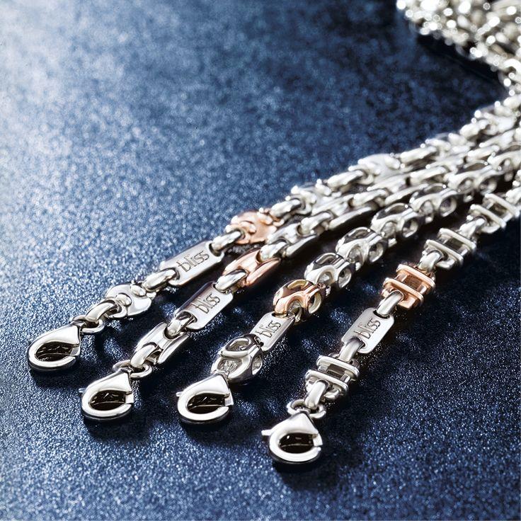 Gioielli Bliss, per celebrare la preziosità di ogni giorno. Stile, eleganza ed innovazione caratterizzano i gioielli Bliss da donna e da uomo.