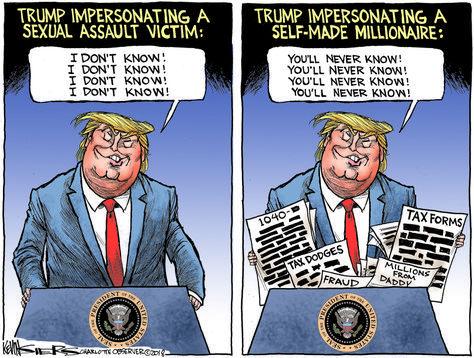 Dotard Drumpf in 2020 Funny political cartoons