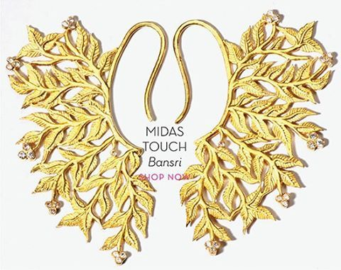 MIDAS TOUCH-Add a touch of radiance to your festive look with this beautiful new collection by Bansri #perniaspopupshop #shopnow #newcollection #bansri #designer #accessories #festive