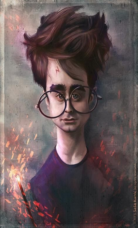 Daniel Radcliffe por Sasa Kunic