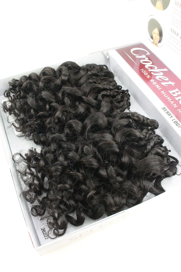 Sensationnel 100% Remi Human Hair Crochet Braids Berry Loop