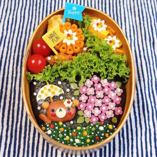 Instagrammer & Food Artist Kinakobun Crafts Colorful Bento Lunch Box Art For Her husband.|FunPalStudio|Illustrations, Entertainment, Artist, drawings, paintings, beautiful, creativity, nature, Art, Artwork, sculptures, Food Art, fruit art, Photography, lunch box, Bento art, Kinakobun.