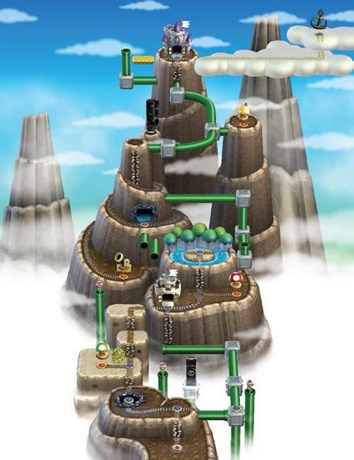 13 best new super mario bros wii images on pinterest world 6 from the official artwork set for new supermariobros on wii gumiabroncs Gallery