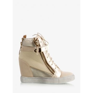 Trampki Three Colors Beige Wedge Sneakers
