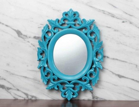 Turquoise Victorian Mirror