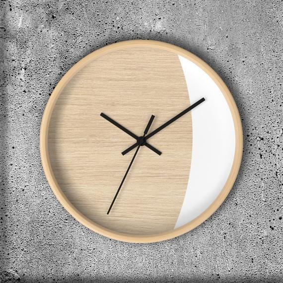 Scandinavian Style Wall Clock Modern Home Decor Minimalist Etsy In 2020 Scandinavian Wall Clocks Wall Clock Modern Wall Clock