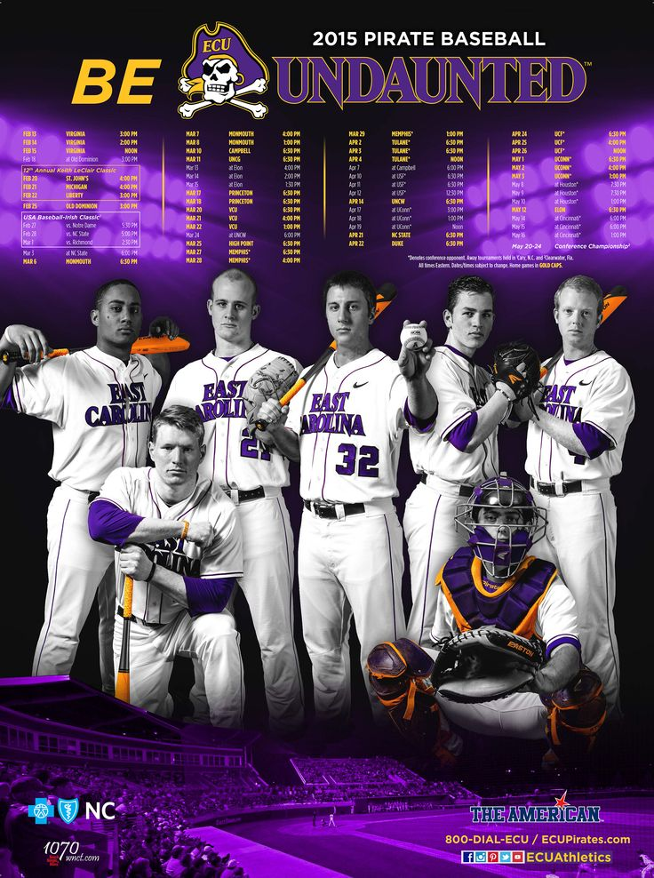 2015 East Carolina Baseball Poster