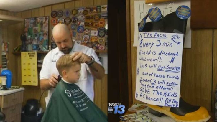 HENDERSONVILLE, N.C. -- A North Carolina barber trying to raise money for kids with cancer says someone stole the donations he was collecting. Josh Ballard of Helms Barbershop in Hendersonville tol...