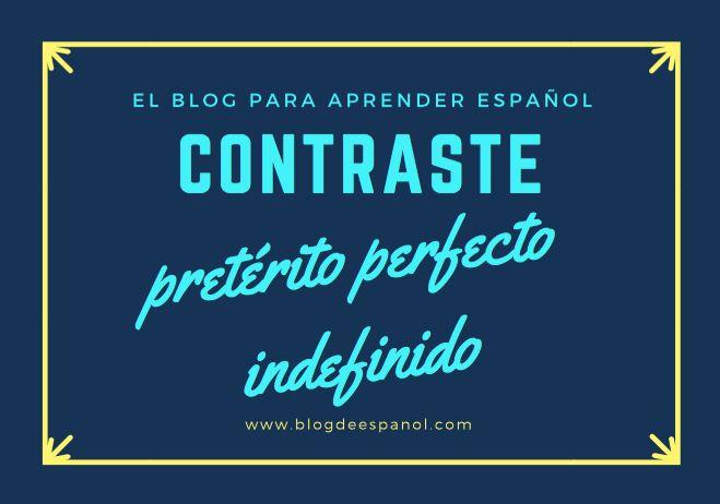 Hoy os traemos un vídeo sobre el contraste de pretérito perfecto - indefinido. Al final encontraréis un ejercicio práctico ¡enviadnos la respuesta!