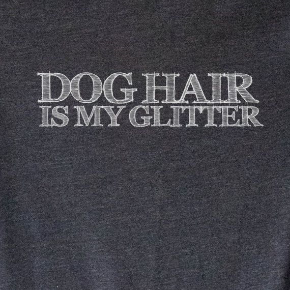 UNISEX Soft Blend Tee Dog Hair is My Glitter Dog by opalandharv