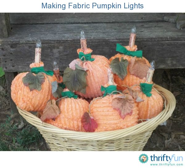 This guide is about making fabric pumpkin lights. Using inexpensive materials you can make a pumpkin light decorations to brighten up your fall decor.