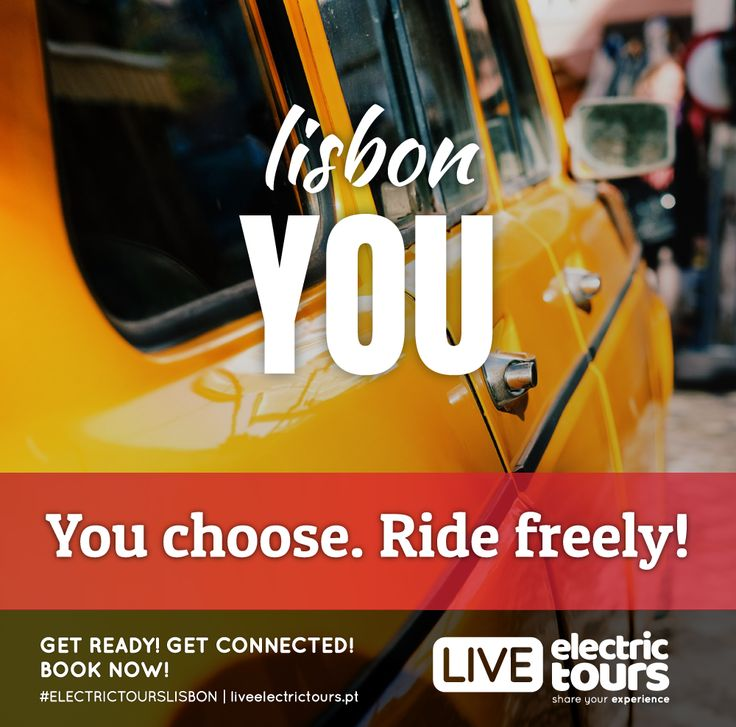 LISBON YOU  You choose. Ride freely! FREE WIFI | FREE HOTSOPT | FACEBOOK LIVE GPS AUDIO GUIDE | 100% ELECTRIC | 100% YOU GET READY! GET CONNECTED! BOOK NOW!  #ELECTRICTOURSLISBON