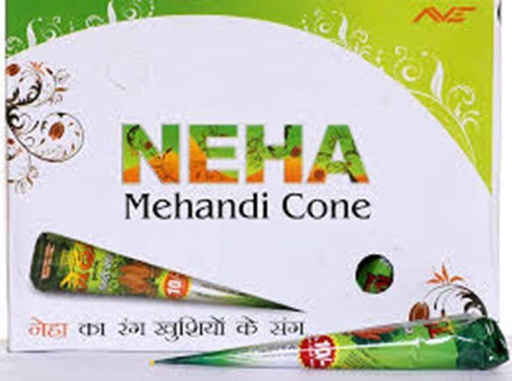 12 Pcs Neha  Mehandi Henna Cone Temporary Body Hina Tattoo + Myrtle Oil Free