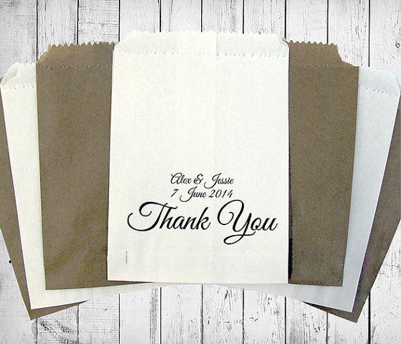 Personalised Wedding Sweet Bags THANK YOU Candy Cart Wedding