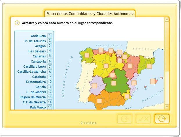 """""""Mapa interactivo de las Comunidades y Ciudades Autónomas"""""""