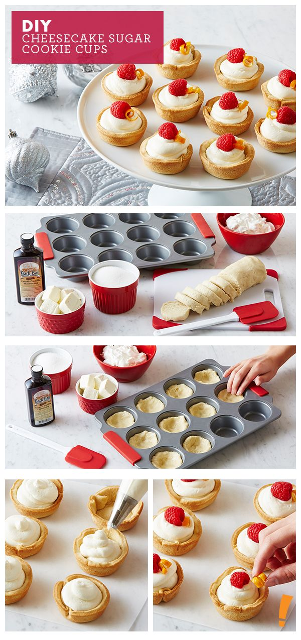 Amazing cheesecake sugar cookie cups!