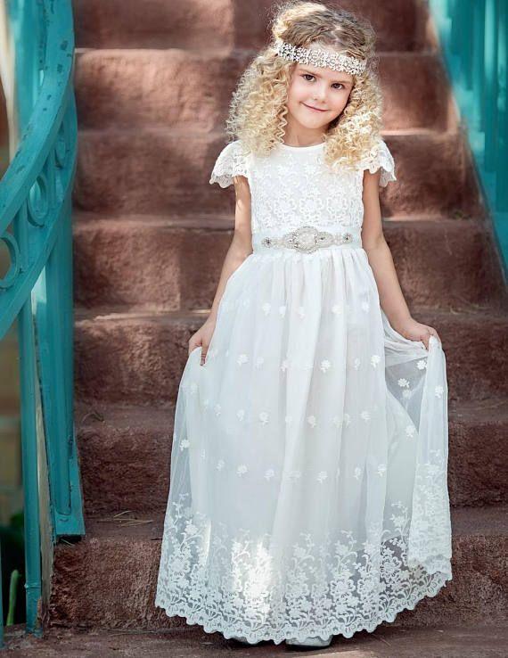 9971bb5fef8 Off White Flower girl dress