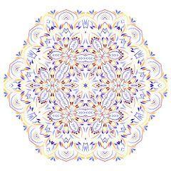 Colorful floral mandala (Aleksa Torri) Tags: mandala floral pattern white arabic… #tattoos