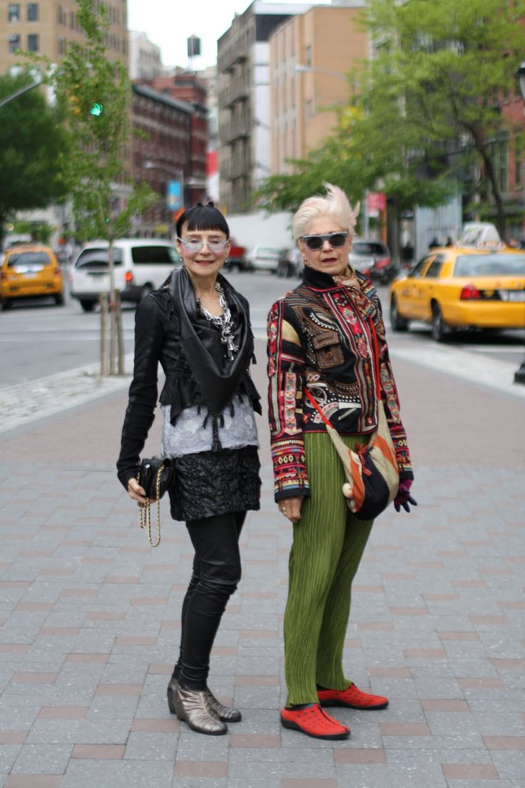 "From Advanced Style: ""Should we ever stop playing Dress Up? Like many of the women I photograph, they feel that style should be fun and not taken too seriously. Each one of them has a unique sense of personal style, but their approach to life and dressing is very similar... Check out Maayan Zilberman's great interview with Debra and Maryann,"" at the click"